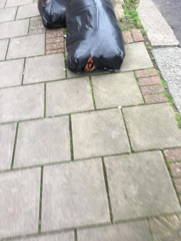 Rubbish's dumped-74 Sherrard Road, London, E7 8DW