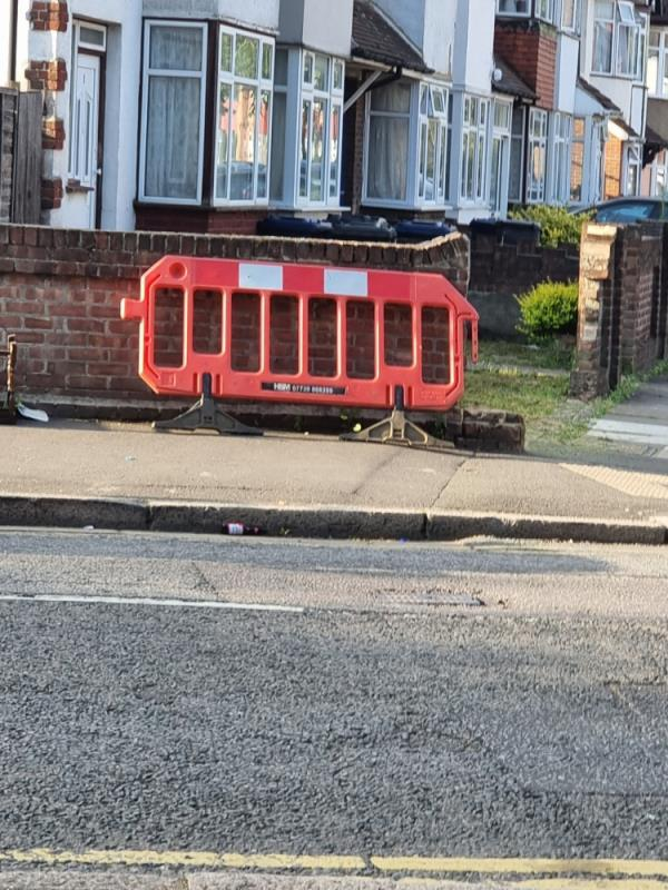 Barrier on road-39 Beaconsfield Road, London, UB1 1BS