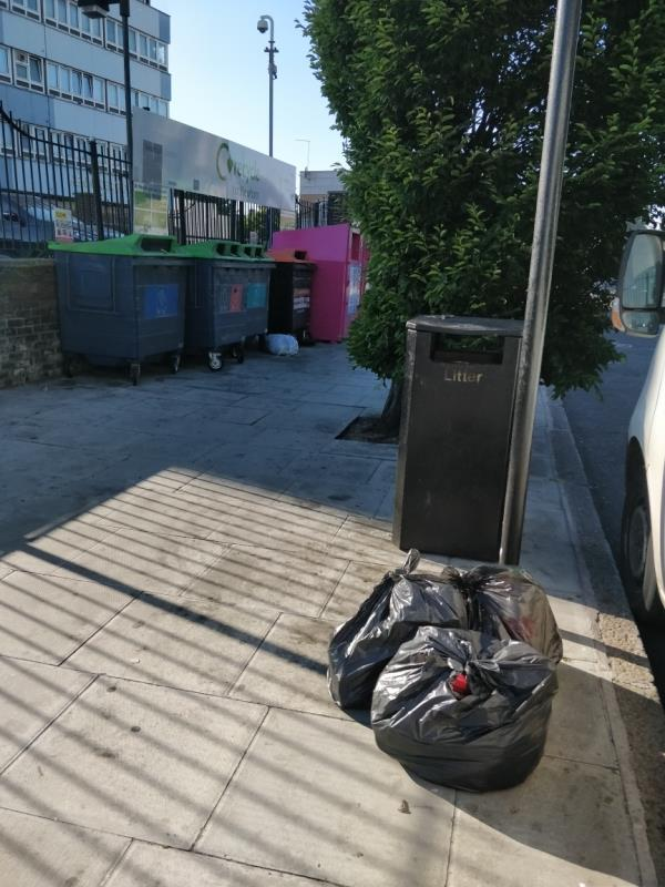 Flytipping in front of Henniker Point Leytonstone Road E15-Henniker Point Leytonstone Road, London, E15 1JY