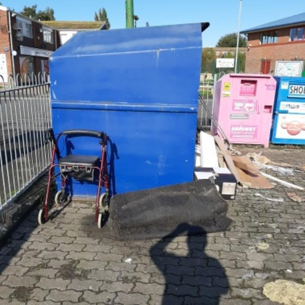 SEESL from NP Zone2 EBC 22nd Oct 12pm please could you clear the fly tip from the car park Holly Place next to the recycling banks.  thank you image 1-140 Maywood Avenue, Eastbourne, BN22 0TJ