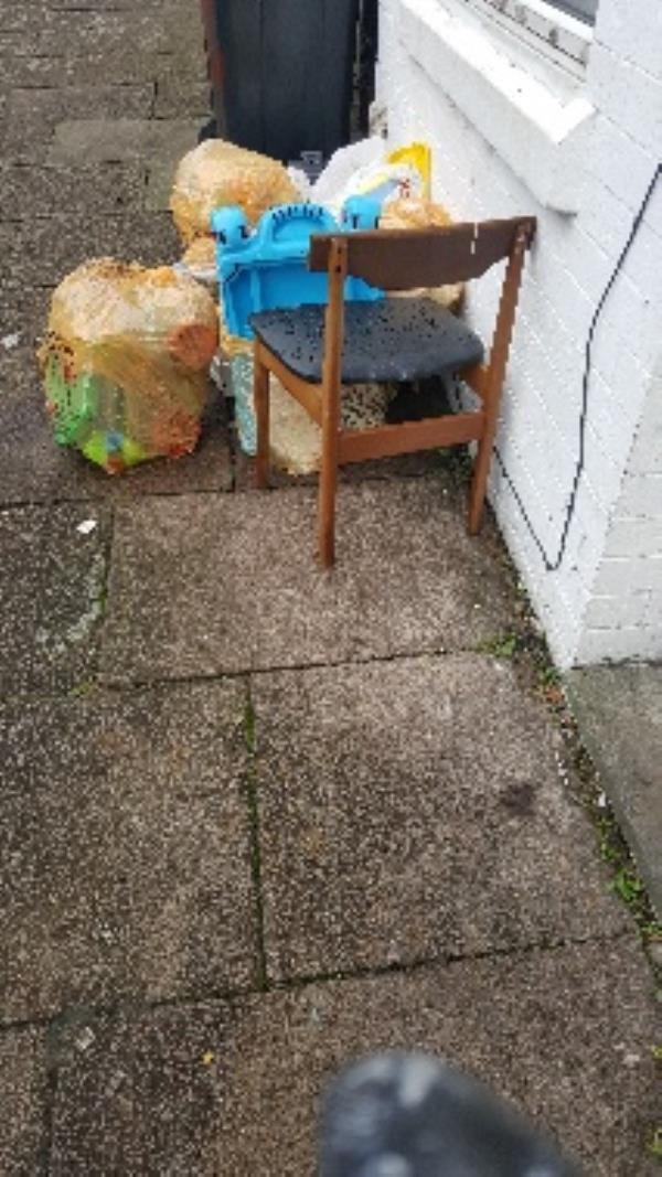 97 warwick st. contaminated bags. illegal flytip-95 Warwick St, Leicester LE3, UK