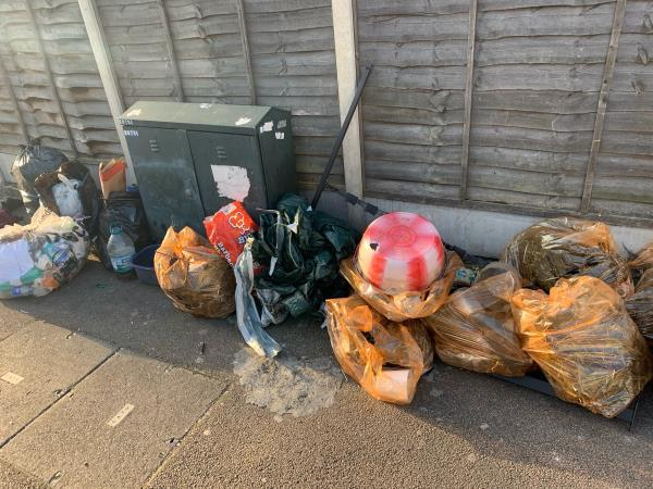 Fly tipping-15a Sprowston Road, London, E7 9AD