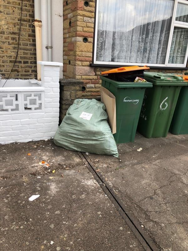 Bin overflowing -8 Torrens Road, London, E15 4NA