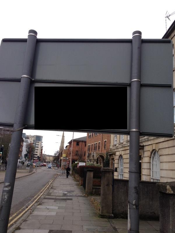 Offensive graffiti on rd sign-Kings Oak Court Queen's Road, Reading, RG1 4PX