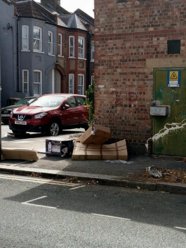 dumped rubbish -39b Bingley Road, Canning Town, E16 3JR