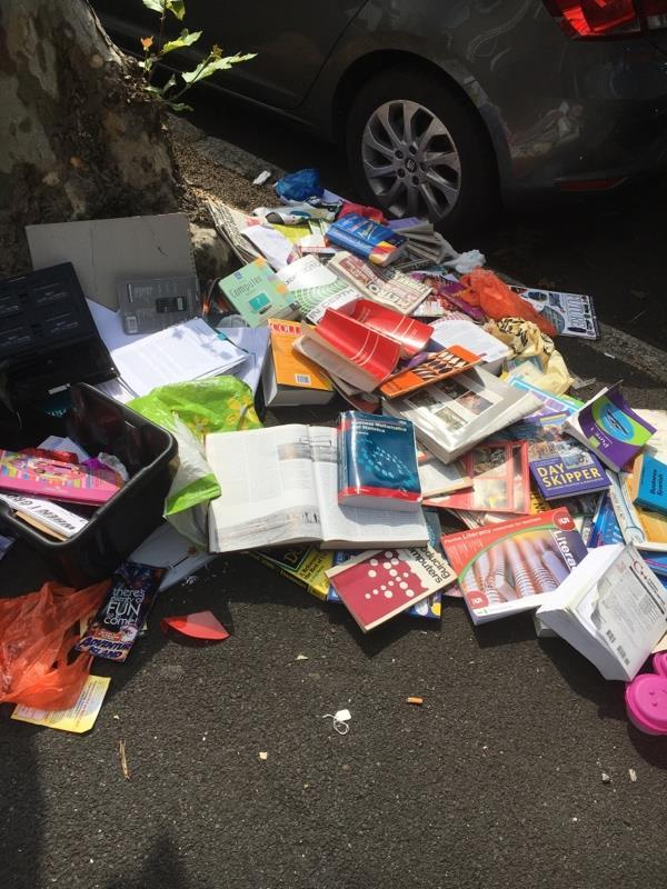 Please clear the flytipping -145 Earlham Grove, Forest Gate, London E7 9AP, UK