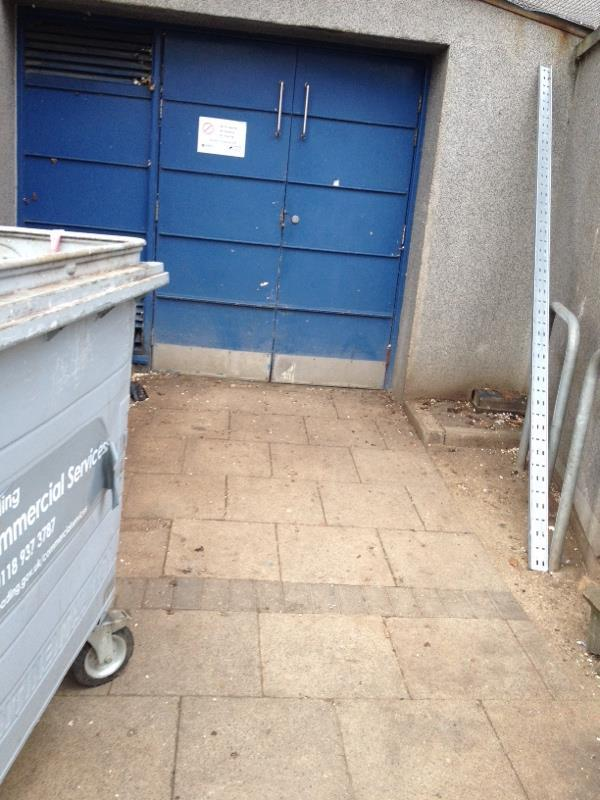 Wash down bin stores-Riversley Court, 205 Wensley Road, Reading, RG1 6ED