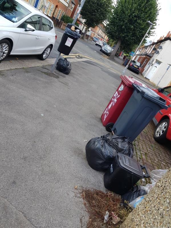 3 x Black bag of rubbish on path-58 Prince of Wales Avenue, Reading, RG30 2UH