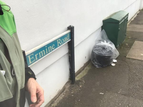 Dumped bags of builders' boots! Grrrrr. Usual hotspot at this end of my road! Thanks, team.-79 Brookbank Road, Lewisham, SE13 7BZ