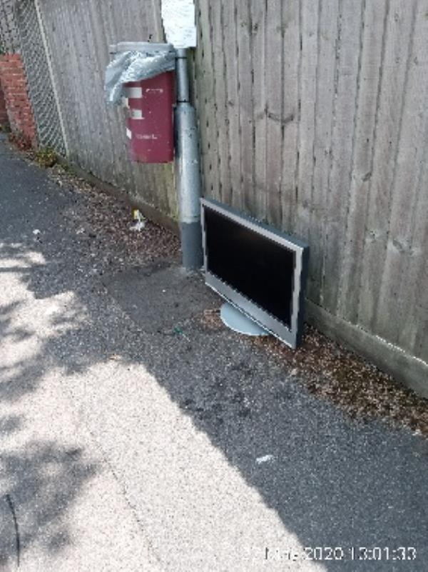 TV near dog bin on Auckland road-51 St Peters Road, Reading, RG6 1PA
