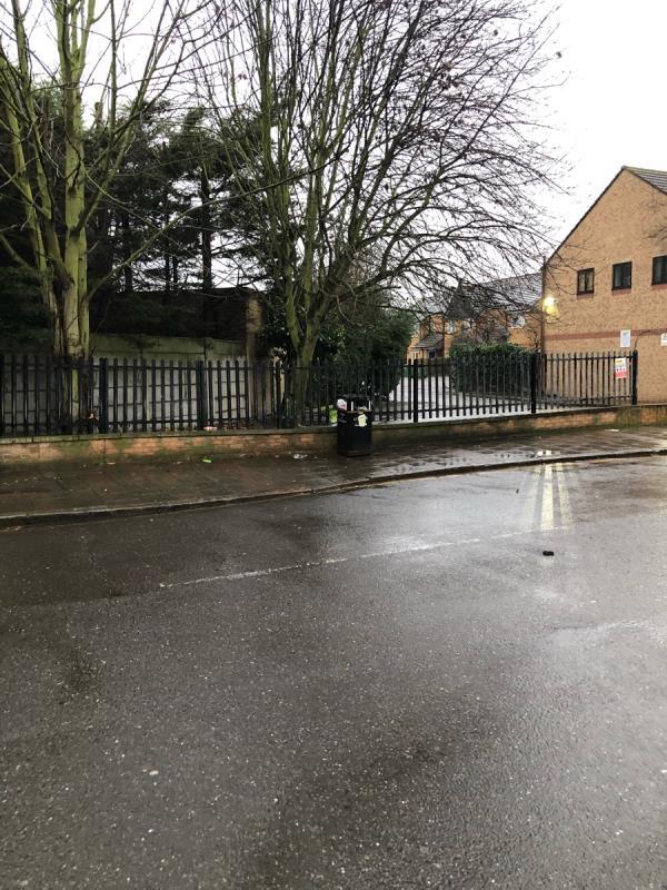 Bin on Hilda Road overflowing again.-59 Hilda Road, London, E16 4NQ