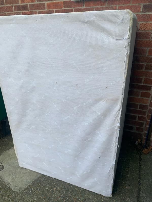 Bases of bed and headboards needs picking up near bins ASAP -26 Morse Close, Plaistow, E13 0HH