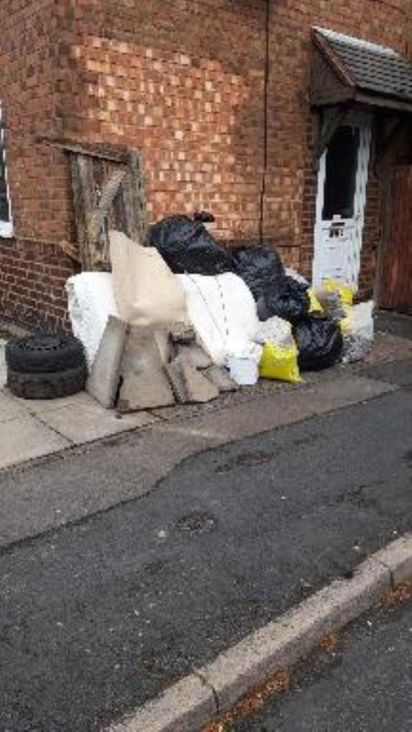 rubbish corner Pugh road been there couple weeks-40a Pugh Rd, Bilston WV14, UK