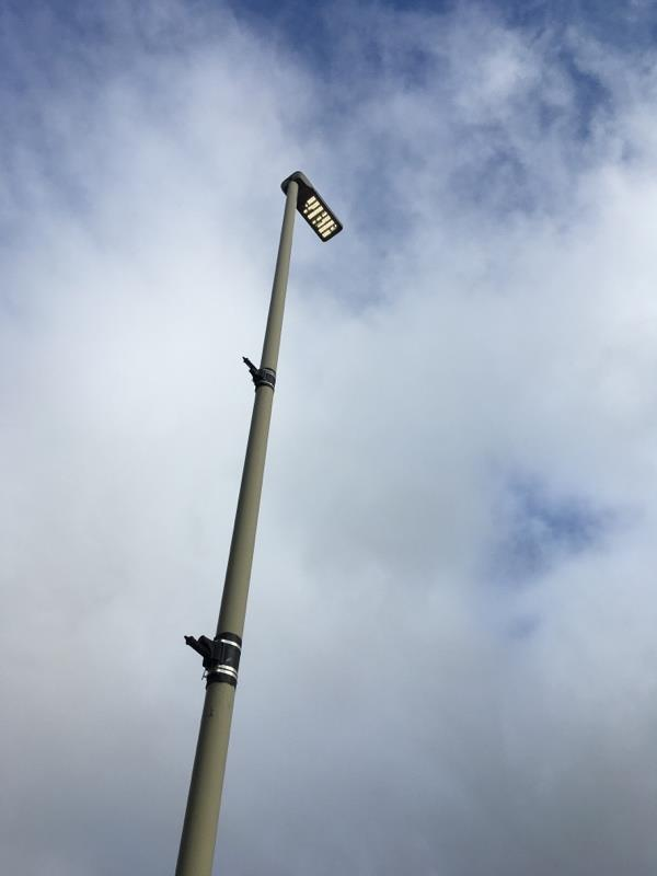 Street light is constantly switched on-491 Welford Rd, Leicester LE2 6BL, UK