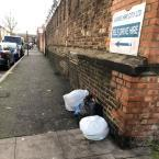 Fly tipping -Railway Arch Lee Street, London, E8 4DY