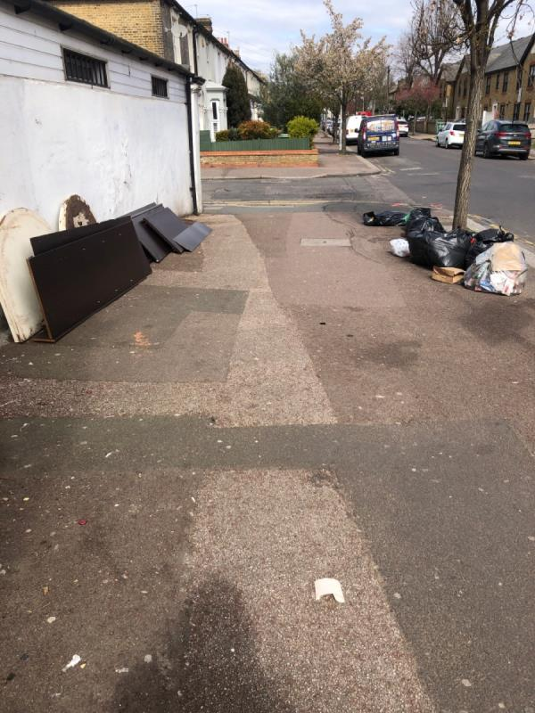 Rubbish bags and furniture -631 Romford Road, Manor Park, E12 5AD