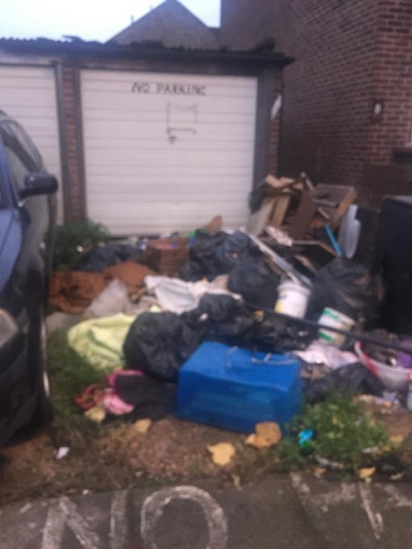 Dumped rubbish please collect or inform enforcement team about the issue. Thanks -13 Duffield Drive, London, N15 4AR