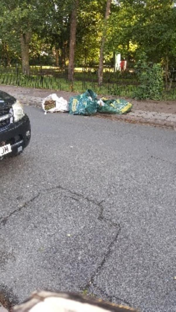 44 wentworth rd. waste dumped in road.-46 Wentworth Road, Leicester, LE3 9DF