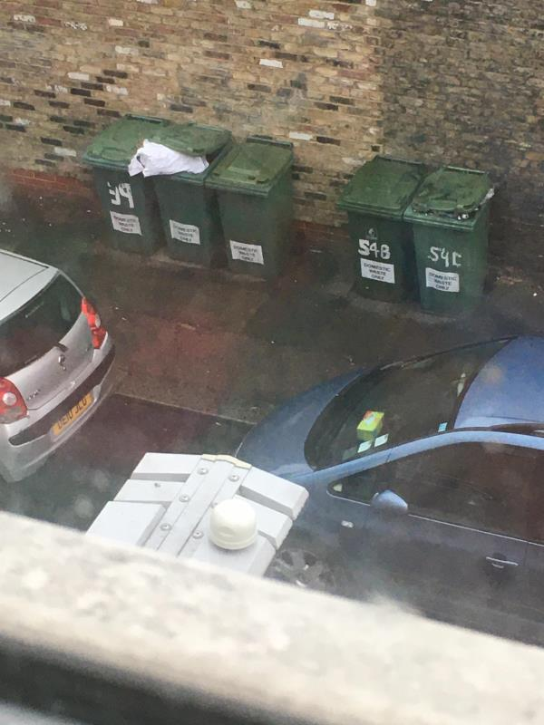 Bins over flowing yesterday and emptied over flowing again today and emptied again now two bins over flowing again. We are just a place to dump rubbish, This is where we live and have paid a mortgage and pay to have our bins emptied but we are paying to emptied other people's rubbish ??? -37/39 Plashet Grove E6 1AP side of Coffee Hut