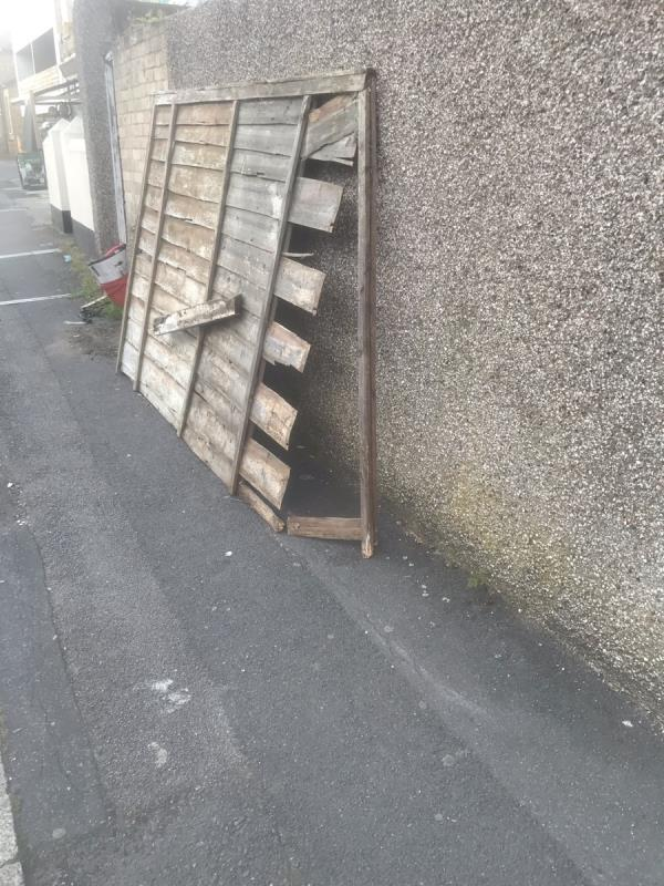 Fence panel with long nails sticking out-60 Field Road, London, E7 9DL