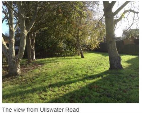 The fallen fig tree is located by the walkway between Western Road and Ullswater Road (directly opposite Bowness Avenue. It has been reported to me by a Sompting Parish Councillor as it is restricting access. image 2-34 Ullswater Road, Sompting, BN15 9TL
