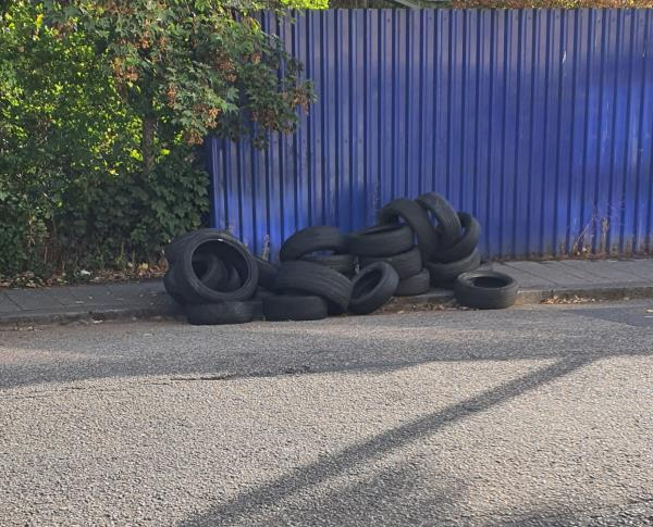 Tyres dumped -60 Nightingale Grove, London, SE13 6DY