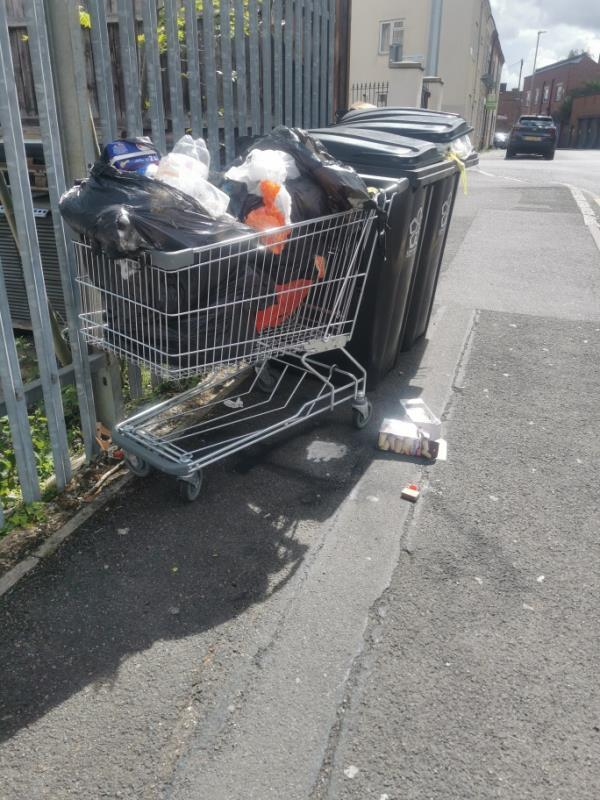 Abandoned trolley/fly tipping -60 Knighton Lane, Leicester, LE2 8BE