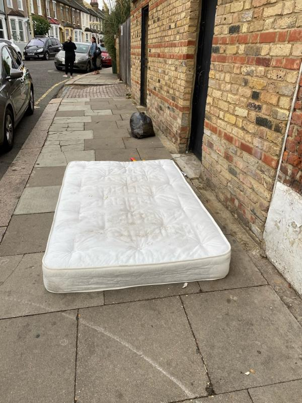 New mattress on the street-226a Hither Green Lane, London, SE13 6RT