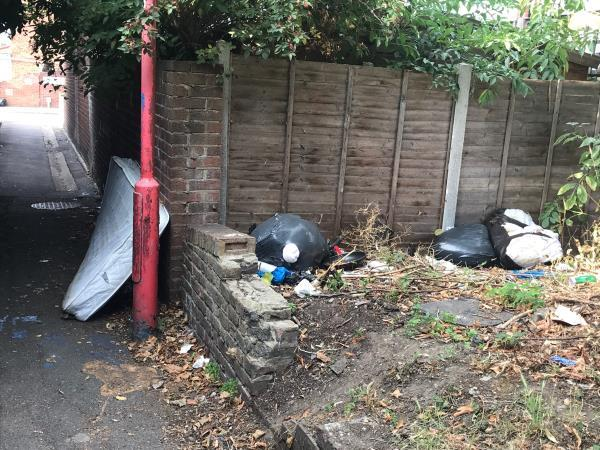 Single mattress and various trash bags-24 Wilkinson Rd, London E16 3RJ, UK