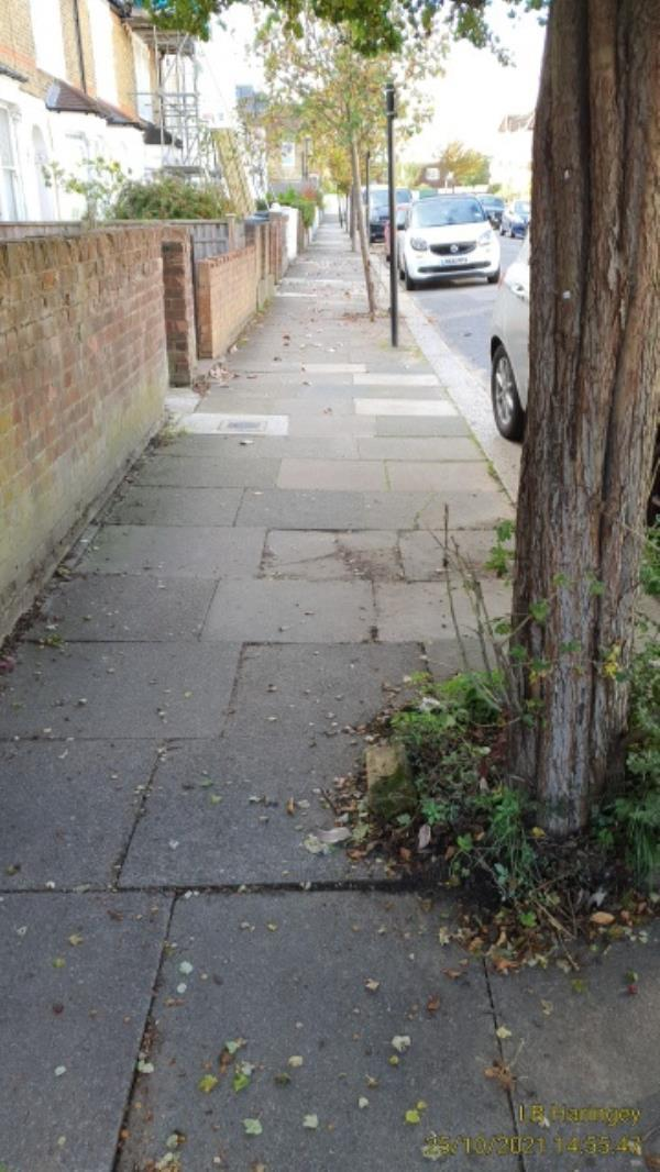Tipped brick outside 117-148 Seaford Rd, London N15 5DS, UK