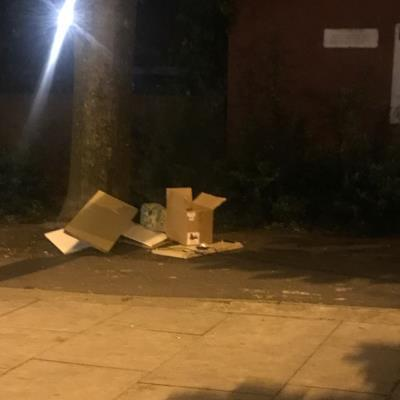 Flytipping needs clearing.  -18 Theydon Rd, Clapton, London E5 9NZ, UK