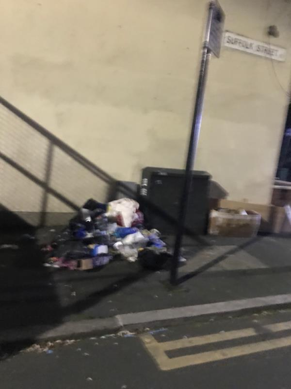 Big fly tip of household crap building up as usual, certain residents using this area as a dumping site-58 Field Road, London, E7 9DP