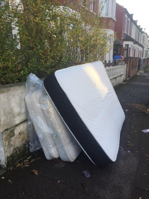 rubbish dump outside 106 Shelley Avenue E126rf -111 Shelley Avenue, London, E12 6PX