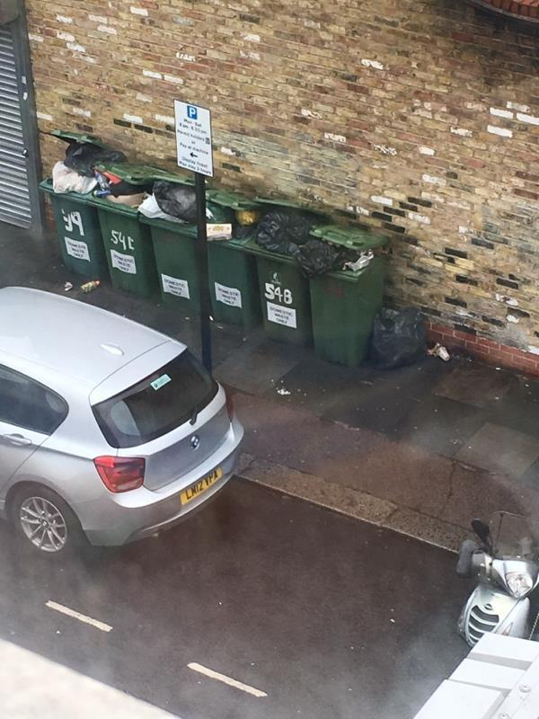 Black bag by bins side of Coffee Hut. This is the third time today that people have fly tipped if your guy took some of the over flow from the bins you would not have to come hear three times, so far????-2b Waterloo Road, London, E6 1AD