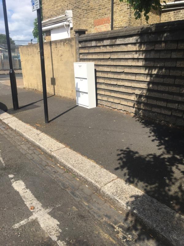 Dumped cupboard -143 Boleyn Road, London, E7 9QH