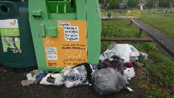 clothing bank needs to be emptied -85 Church End Ln, Reading RG30 4UW, UK