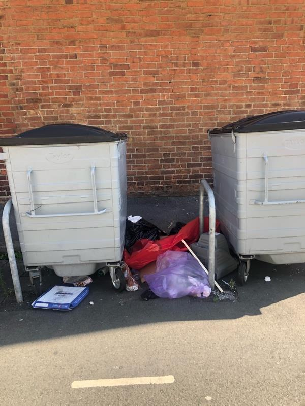 I know that the north bins were just reported by a resident. In case he did not report the middle bins here on Ansty Road that is what this is for. It goes without saying that also the south bins have also got a lot of rubbish and also need to be picked up and this report is asking that you deal with all three sets of bins On Ansty Road ASAP. Thank you, Councillor Karen Rowland-8 Anstey Road, Reading, RG1 7JR