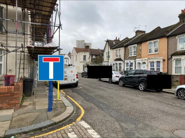 """Dear Haringey, Im writing abour dead road sign necessery to be placed in the end of Roslyn Road N15. Dead end road Sign should be placed on the corner Roslyn Road and Seaford Road N15 (opposite number 30 Roslyn Road N15 5ET)  Im the resident and unfortunetely my car was hit again last week as  there is no sign and people constantly reversing back.  This is big problem for last few years.  My cars was damaged three times already,  I think theres also should be yellow signs on entry from Avenue Road to Roslyn Road and on entry from Avenue Road to Seaford Road """"NO THRU ROAD TO SEVEN SISTERS ROAD"""" Ive attached pictures. Thank you -32 Roslyn Road, Seven Sisters, N15 5ET"""