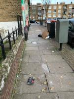 Can we please get out road swept.-95 Stoke Newington Road, London, N16 7TJ