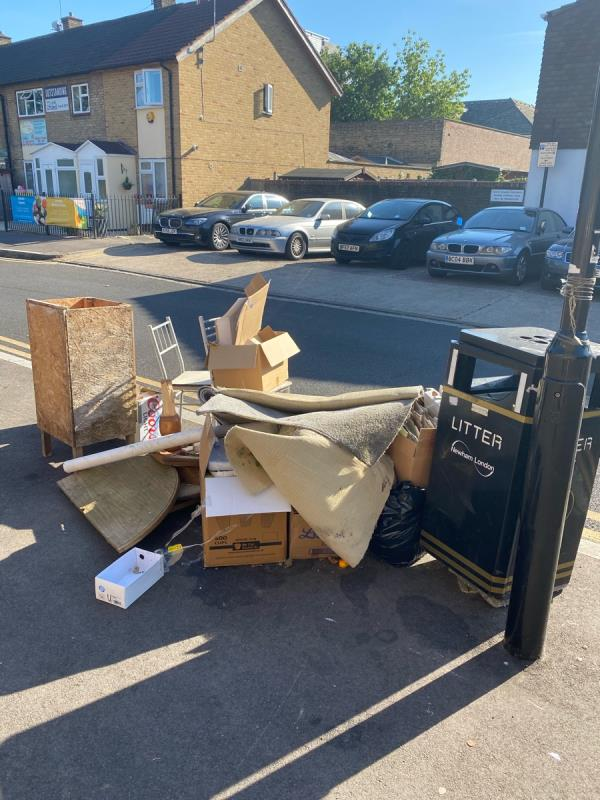 Large flytip, this location is flytipped every week!!!!!-18 Maryland Square, London, E15 1HE