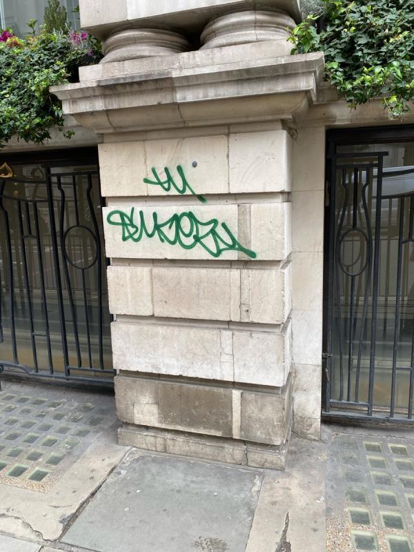 Please clean graffiti-London Wall Buildings London Wall, London, EC2M 5NG