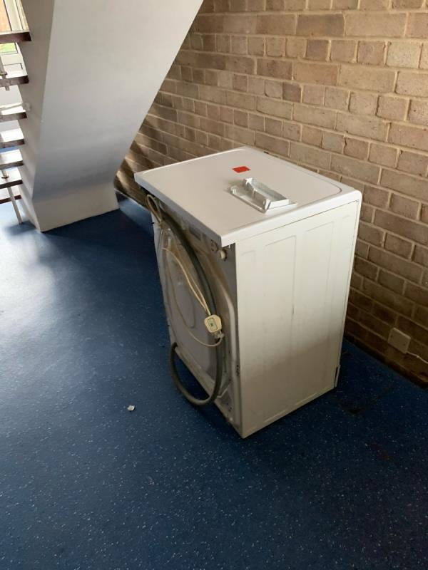 Dumped fridge in communal area of 53 bamburgh close-51 Bamburgh Close, Reading, RG2 7UD