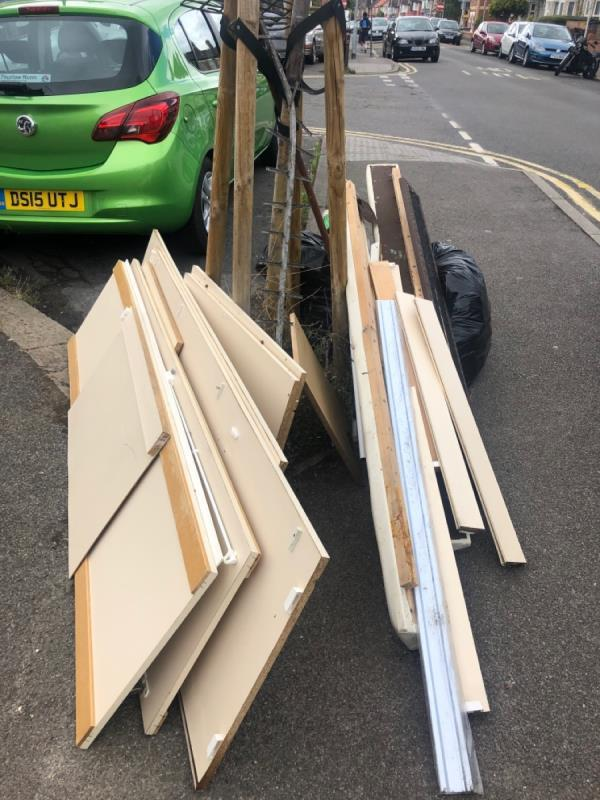 Illegal dumping -60 Manchester Road, Reading, RG1 3QN