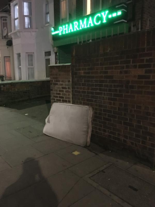 Dumped mattresses -166a Plashet Road, London, E13 0QT