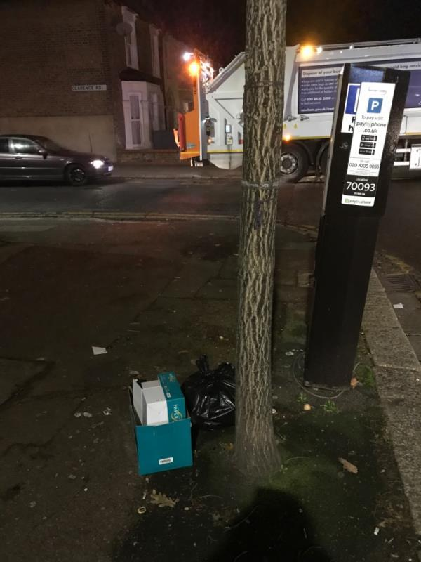 More crap left on the streets...-1 Carlton Road, London, E12 5AD