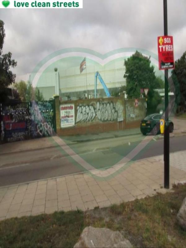 Trundleys Road junction of Surrey Canal Road Remove Graffiti from wall-Arch 1, 1 Canal Approach, London, SE8 5JE