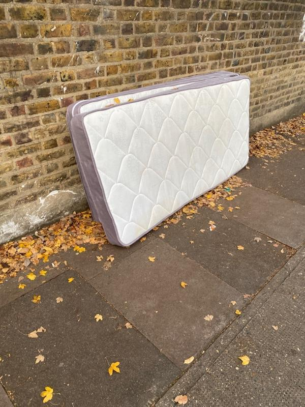 Mattresses dumped on Tunmarsh Lane between Olive Road and Kingsland Road -10 Kingsland Road, London, E13 9PA