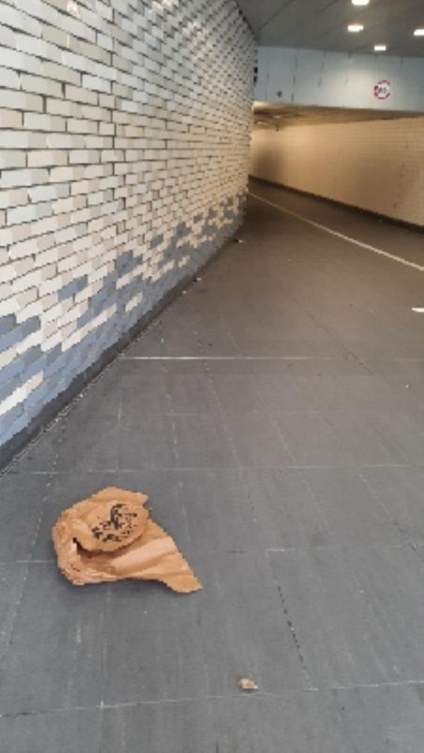 litter throughout station subway -58 Station Hill, Reading, RG1 1PE