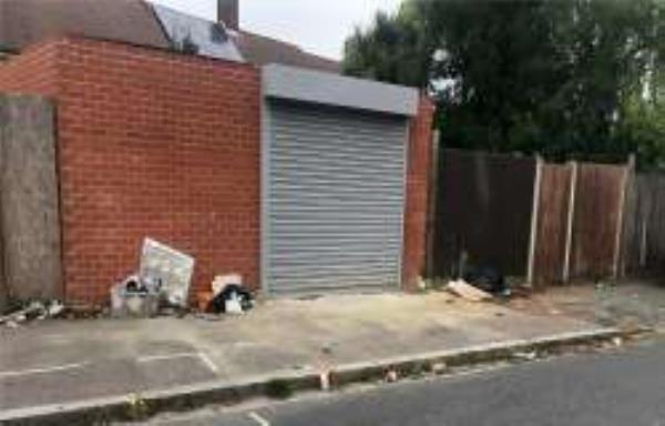 Please clear flytip from garage opposite property-19 Whitefoot terrace