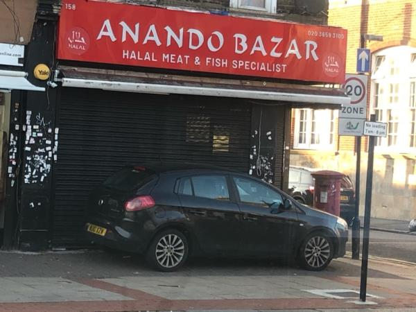 This car is always parked on avement-207d Green Street, London, E7 8LL